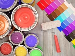 paleta kolorów farb i puszki